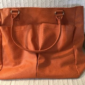 Neiman Marcus Faux Textured leather Large tote
